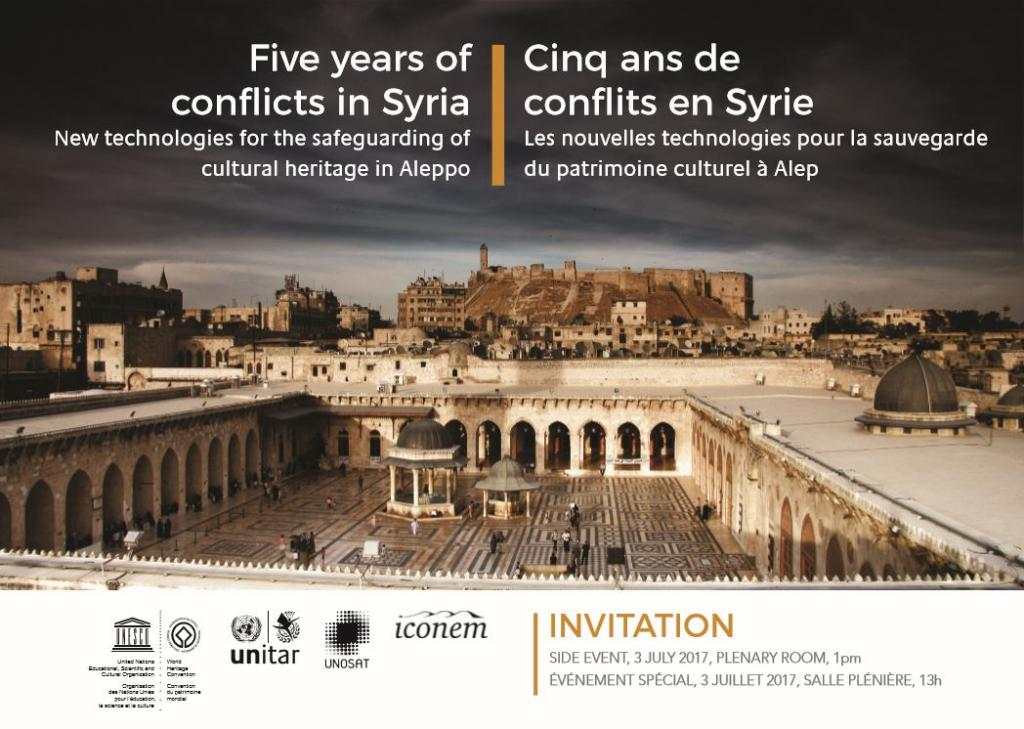Five years on conflicts in Syria - New technologies for the safeguarding of cultural heritage in Aleppo