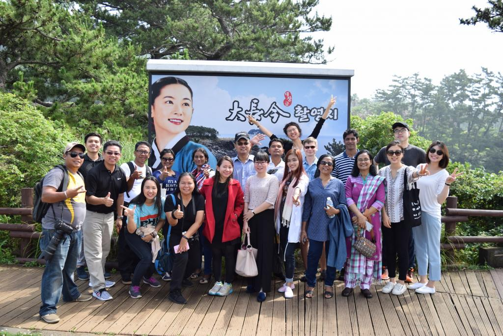 Workshop participants visiting the Jeju Olle Trail Course 7