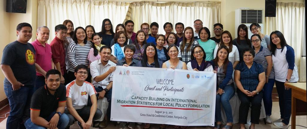 Members of the Quezon City Migration and Development Council during the workshop