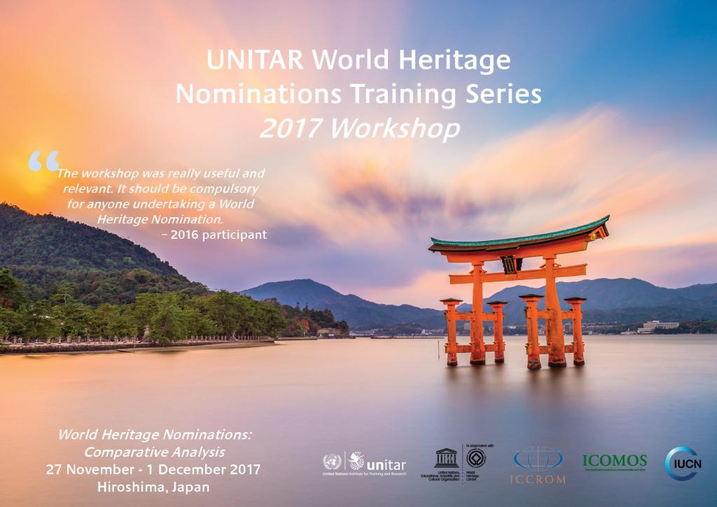 UNITAR World Heritage Nominations Training Series 2017