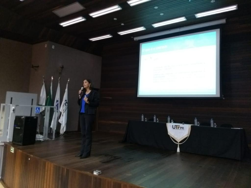 Mrs. Priscila Paz Da Viera, CIFAL Curitiba Manager during the Business and Community Conference