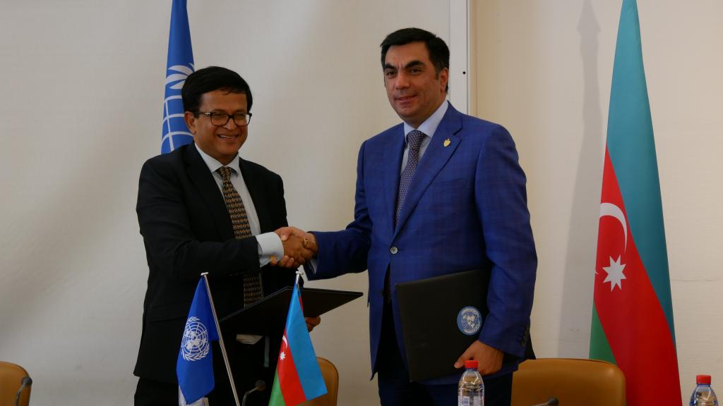 Signing Ceremony Of Partnership Agreement Between Unitar And Bhos