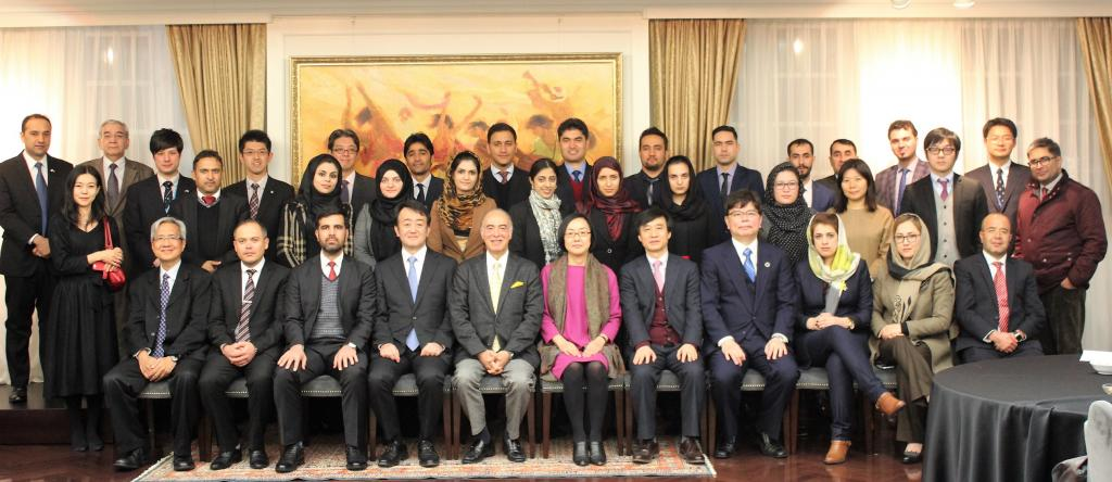 UNITAR Hiroshima Public Financial Management Study Tour Reception at Afghan Embassy
