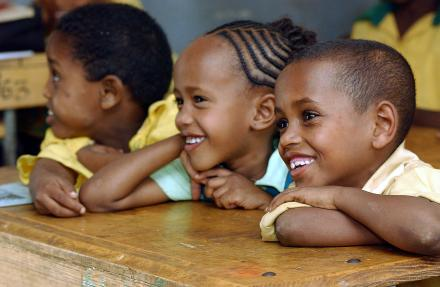 Primary school children in class, in Harar, Ethiopia. UN Photo/Eskinder Debebe/#20834