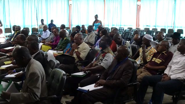 Participants at the NAP sensitization workshop of Tuesday, May 3, 2016