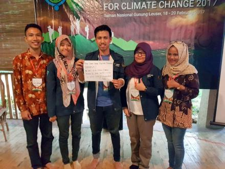 "Participants highlight an impact of climate change they can already observe in their communities and post it on social media to raise awareness among the broad public – ""We can't go to school because of great smoke caused by forest fire"""