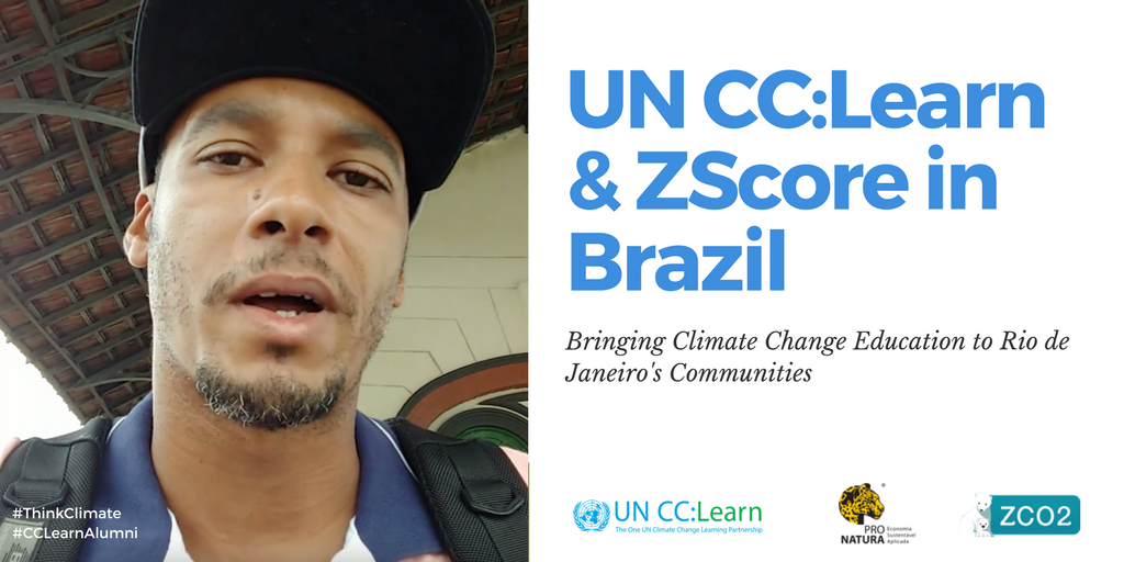 ZScore and UN CC:Learn have partnered to increase awareness about climate change sensitive issues in the urban context of Rio de Janeiro's communities.