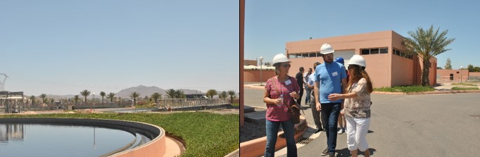 Photo 7: Trainees visiting a waste-water treatment plant in Marrakech.