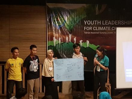 Students presenting their plans for implementing their commitments after the camps.