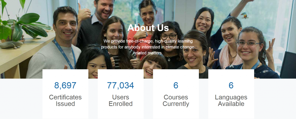 Photo 2: New About Us page displaying live statistics.