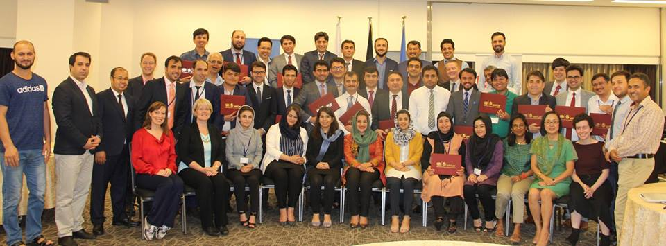 Afghanistan Fellowship Programme Workshop III Hiroshima Group Photo