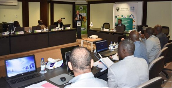 Training session at BADEA headquarters in Khartoum, Sudan.