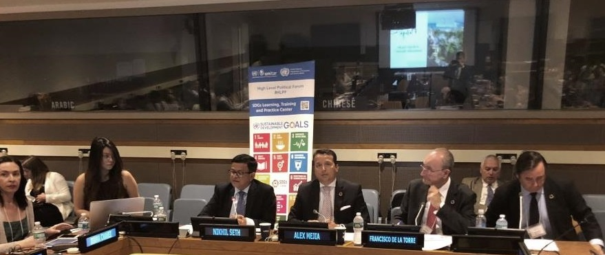 UNITAR at the first day of HLPF