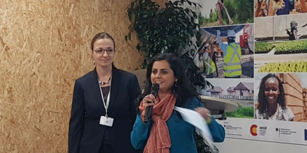 Ms. Julia Wolf, Climate Change Natural Resource Officer at FAO, and Ms. Rohini Kohli, Lead Technical Specialist, National Adaptation Plans, in the Resilience and Sustainable Development team at UNDP.