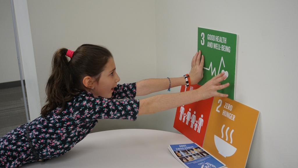 Young Girl from Stand Up Girls with SDGs