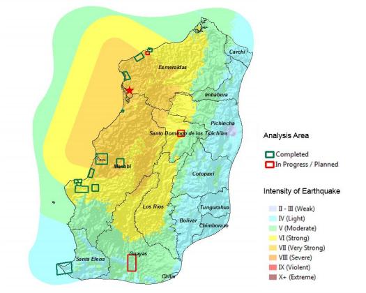 Support To Ecuador Earthquake Relief Operations Synergy Through - Where is ecuador located