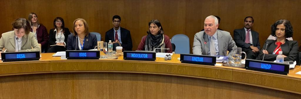 UNITAR Holds Briefing for Administrative Service Officers from Government of India