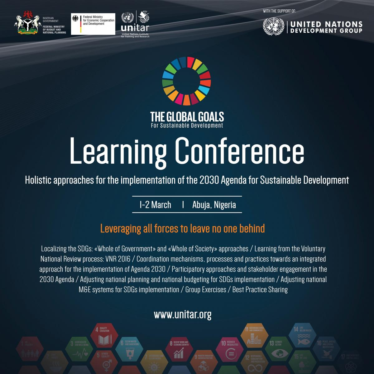 holistic approaches for the implementation of the 2030 Agenda conference