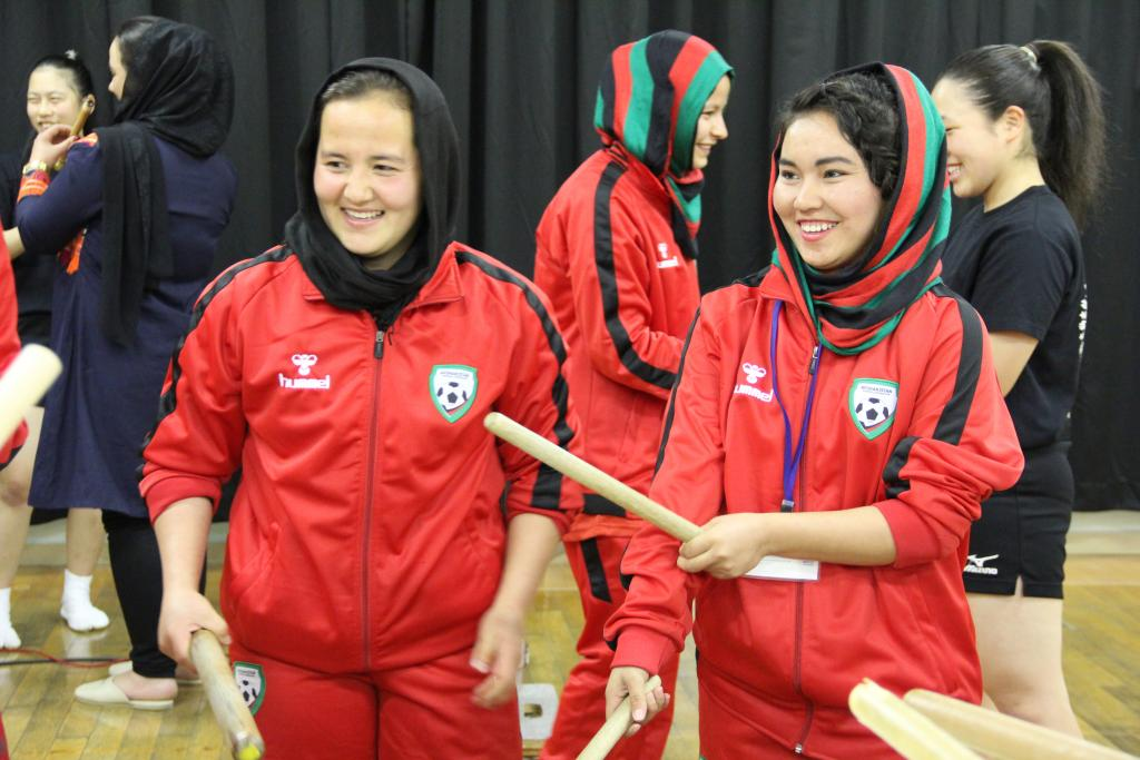Leadership and communication training programme for the Afghanistan U-18 Women's Football Team in Hiroshima