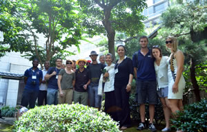 Ritsumeikan Asia-Pacific University, Beppu City, Japan visit Green Legacy Hiroshima