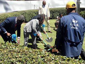 Green Legacy Hiroshima initiative planting in Addis Ababa, UNECA