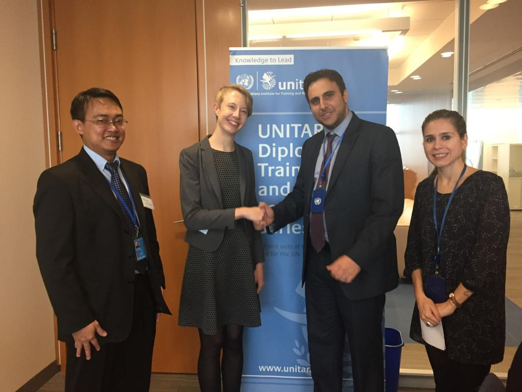 Delegates at a UNITAR/Columbia course