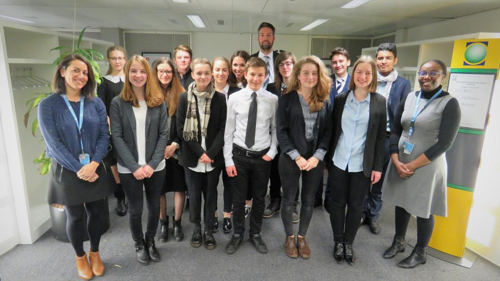UNITAR staff and students from St. Gallen Kantonsschule am Burggraben