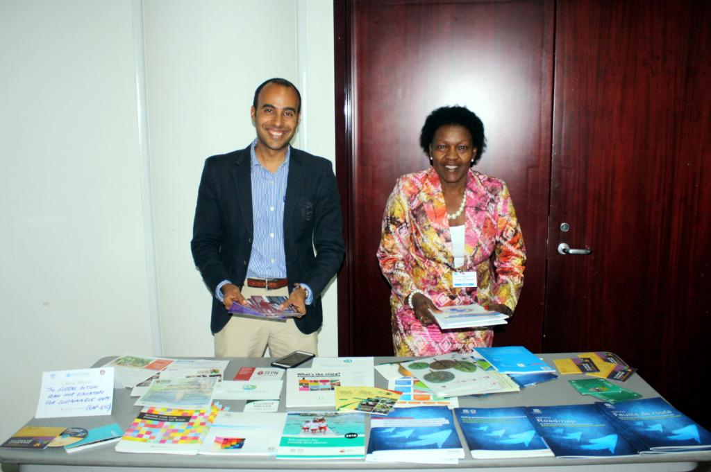 A small fair was organised to showcase international initiatives on climate change education