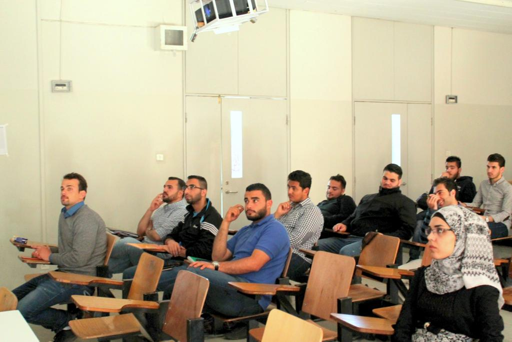 Students from the Jordan University of Science and Technology.