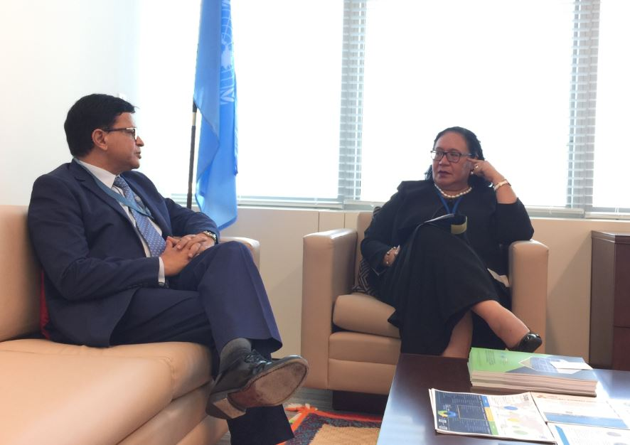 Executive Director Mr. Seth meets with Ms. Fekitamoela Katoa 'Utoikamanu, High Representative for the Least Developed Countries, Landlocked Developing Countries and Small Island Developing States