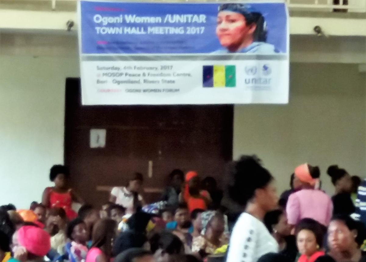 Ogoni women at UNITAR town hall meeting