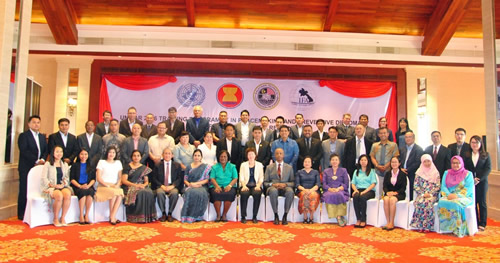 Participants, Resource Persons and Staff at the UNITAR Asia-Pacific Regional Training