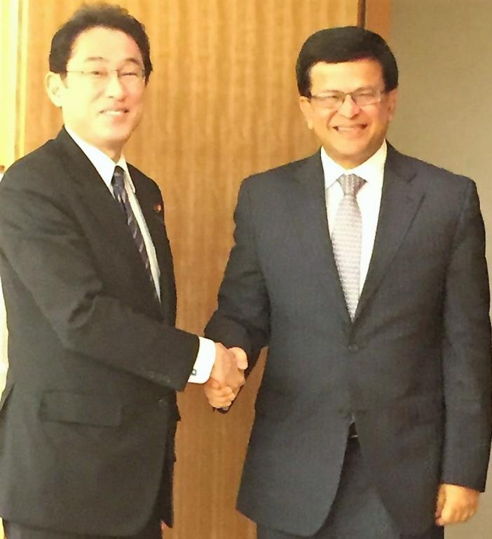 UNITAR Executive Director meets Japanese Foreign Minister