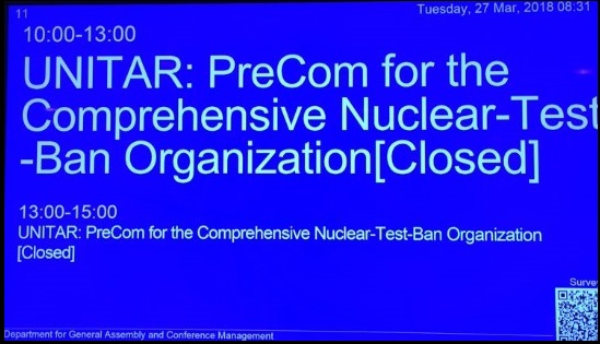 Event on Preparatory Commission for the Comprehensive Nuclear-Test-Ban Treaty Organization