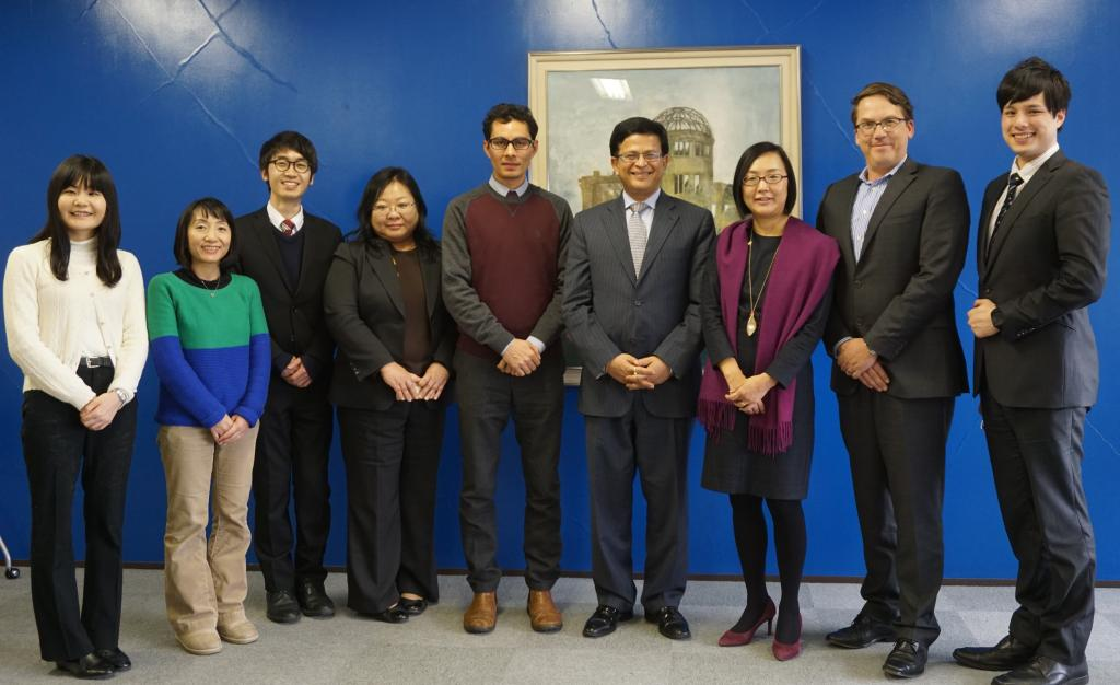 UNITAR Hiroshima Staff with Executive Director Nikhil Seth
