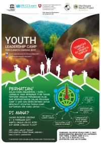 Photo 2: Youth Leadership Camp for Climate Change 2017 Poster.